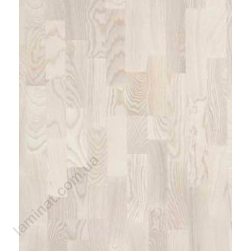 Паркетная доска Polarwood 3x Polarwood Ясен тренд белый лак мат 3х  ясень