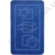 На фото MARITIME PC1 bath mat 0.50x0.80 Blue 0.5x0.8.