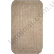 На фото COTTON STRIPE bath mat 0.70x1.20 Beige 0.7x1.2