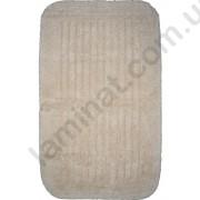 На фото COTTON STRIPE bath mat 0.60x1.00 Ecru 0.6x1