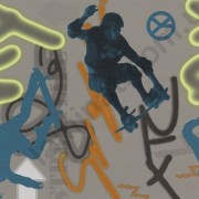 На фото Обои P+S Graffiti 05708-30